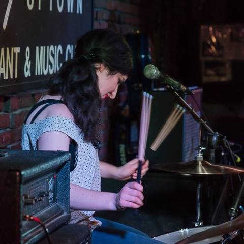 Christiana Usenza Playing Drums