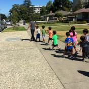 Children on a Story Walk